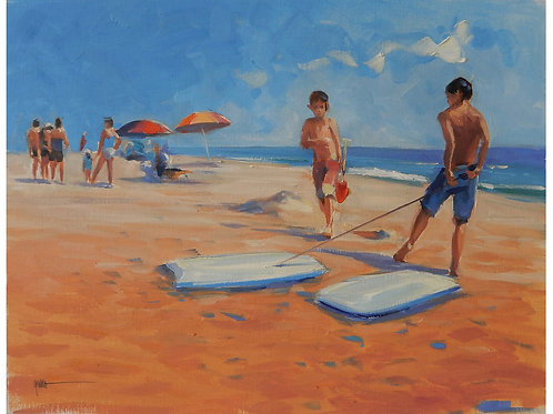 Boys with Boogie Board