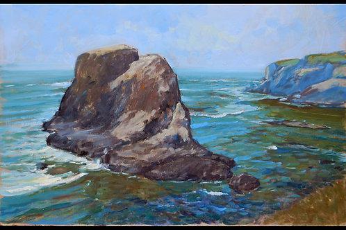 "Pacfic Coast #1 - 16 x 24"" Original Oil Painting (on Masonite)"