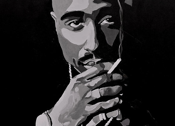 Black and White 2pac 16x20 Prints
