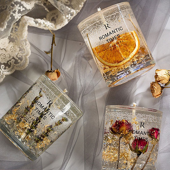 Romantic Aromatherapy Scented Candles {10oz Glass}
