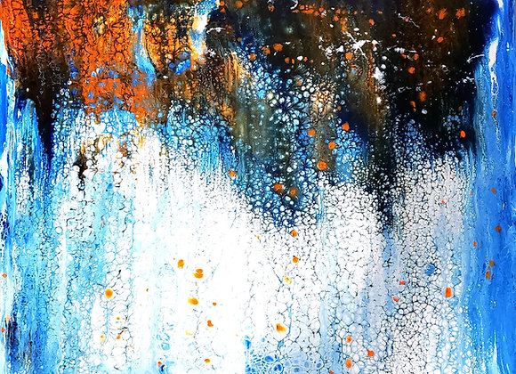 "Abstract ""Rainy Windowpane"" (Glow in the Dark)"