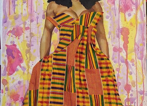 Queen in Fabric