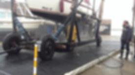 Marine wash platform