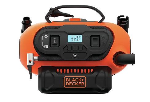 Inflador Black Decker 12v 220v Bateria 20v Litio Digital BDINF20QP-AR