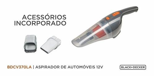 Aspiradora Blackdecker Para Auto 12 V Bdcv370