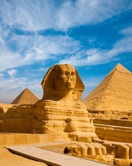 Full profile of Great Sphinx including p