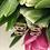 Thumbnail: Kolczyki złote różowe cyrkonie