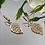 Thumbnail: Kolczyki złote liście