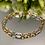 Thumbnail: Bransoletka złota trzy kolory
