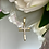 Thumbnail: Krzyżyk złoty z cyrkoniami