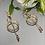 Thumbnail: Kolczyki złote wiszace kulki