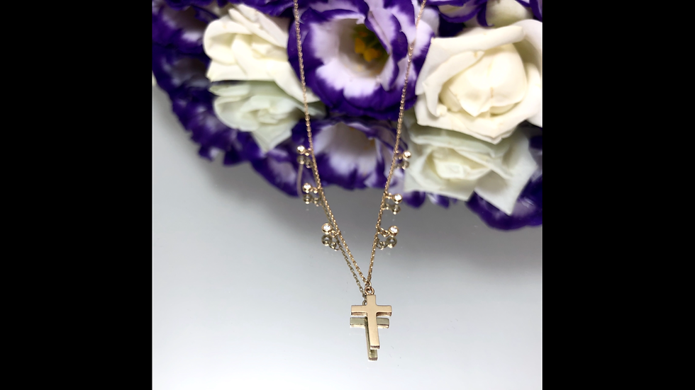 Naszyjnik złoty celebrytka krzyżyk