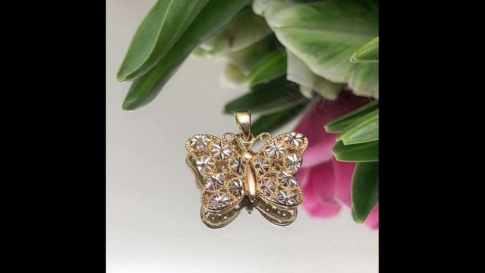 Wisiorek złoty motyl