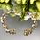 Thumbnail: Bransoletka złota dwa kolory kółka