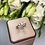 Thumbnail: Pierścionek złoty kwiatek z cyrkoniani