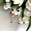 Thumbnail: Kolczyki złote wiszące kółka