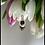 Thumbnail: Wisiorek czarna cyrkonia