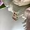 Thumbnail: Wisiorek złoty motyl cyrkonie
