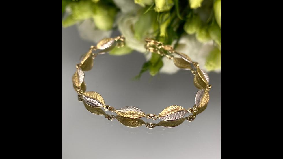 Bransoletka złota liście