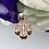 Thumbnail: Wisiorek złoty czterolistna koniczyna cyrkonie