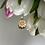Thumbnail: Wisiorek złoty kwiatek cyrkonie