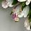 Thumbnail: Wisiorek złoty kwadrat cyrkonie