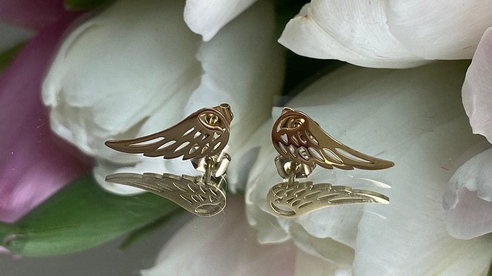 Kolczyki stal skrzydła