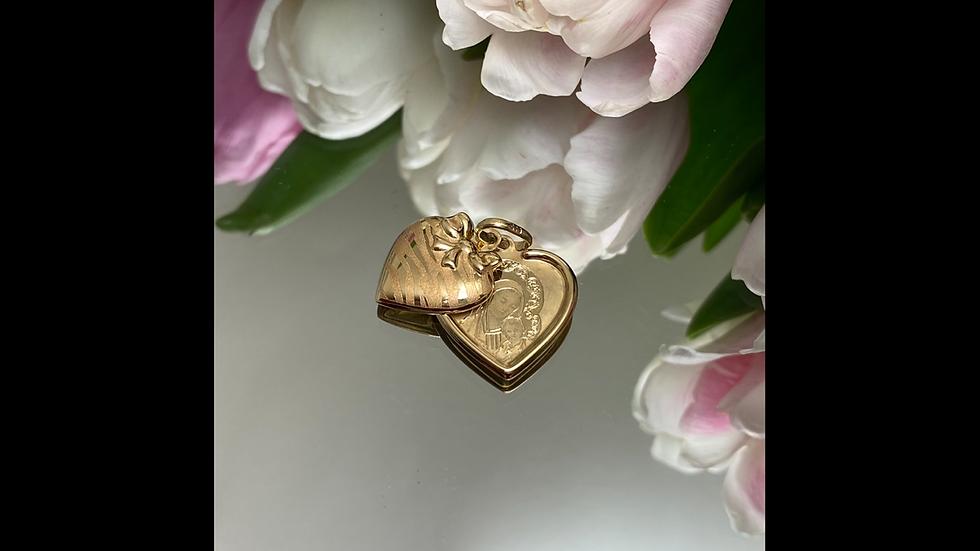 Wisiorek złoty medalik serce