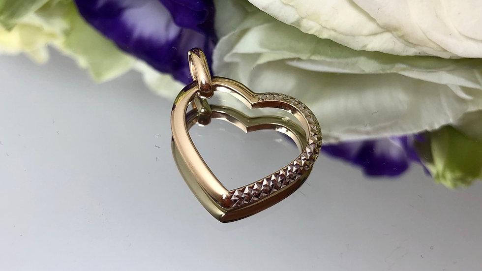 Wisiorek złoty serce