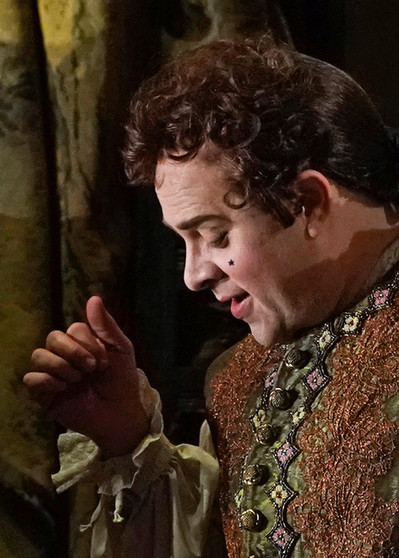 Just the before the curtain rose on Adriana Lecoureur at the Met