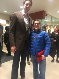 With Pau Gasol; all 7ft of him!