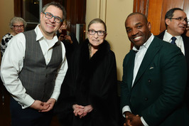 Justice Ruth Bader Ginsburg with Larry and I after a performance of Zelmira