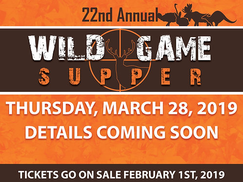 Wild Game Supper VIP table for eight