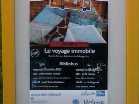 18 et 21 octobre 2017 le Voyage immobile avec le Bibliobus de Reims