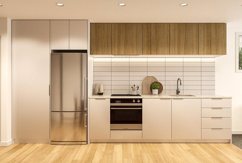 Indicative render of kitchen