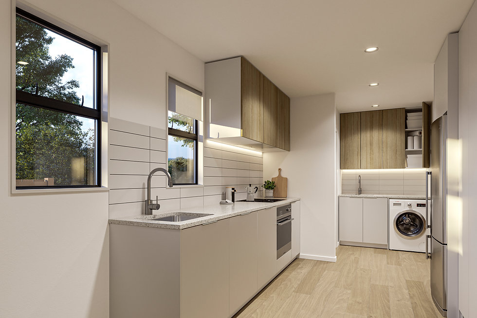 Indicative render of kitchen area