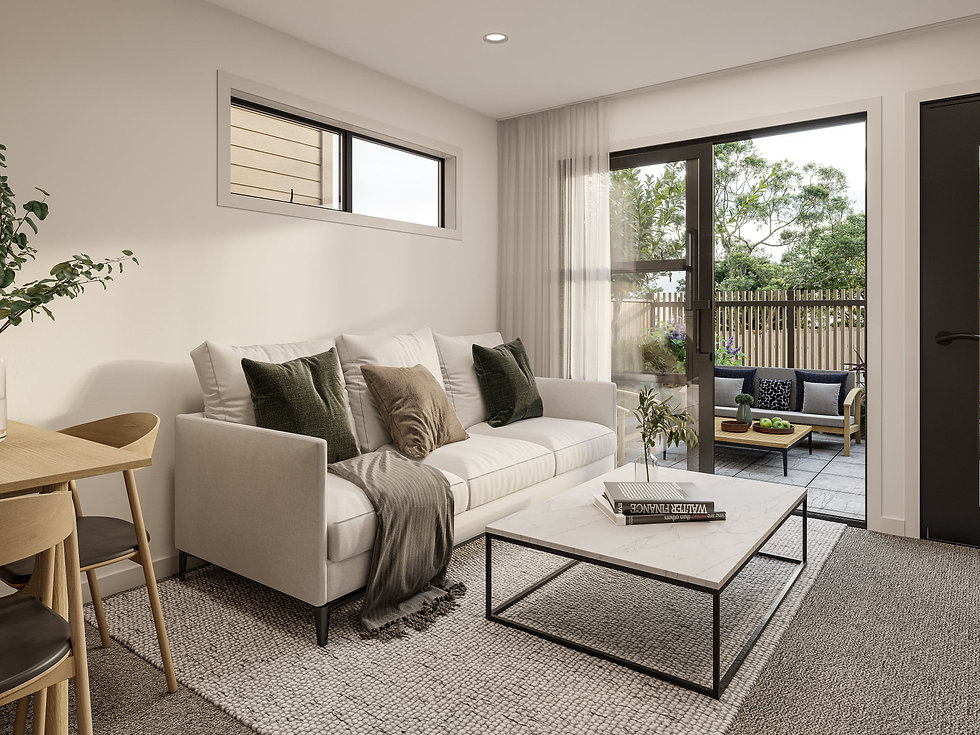 Indicative render of living area