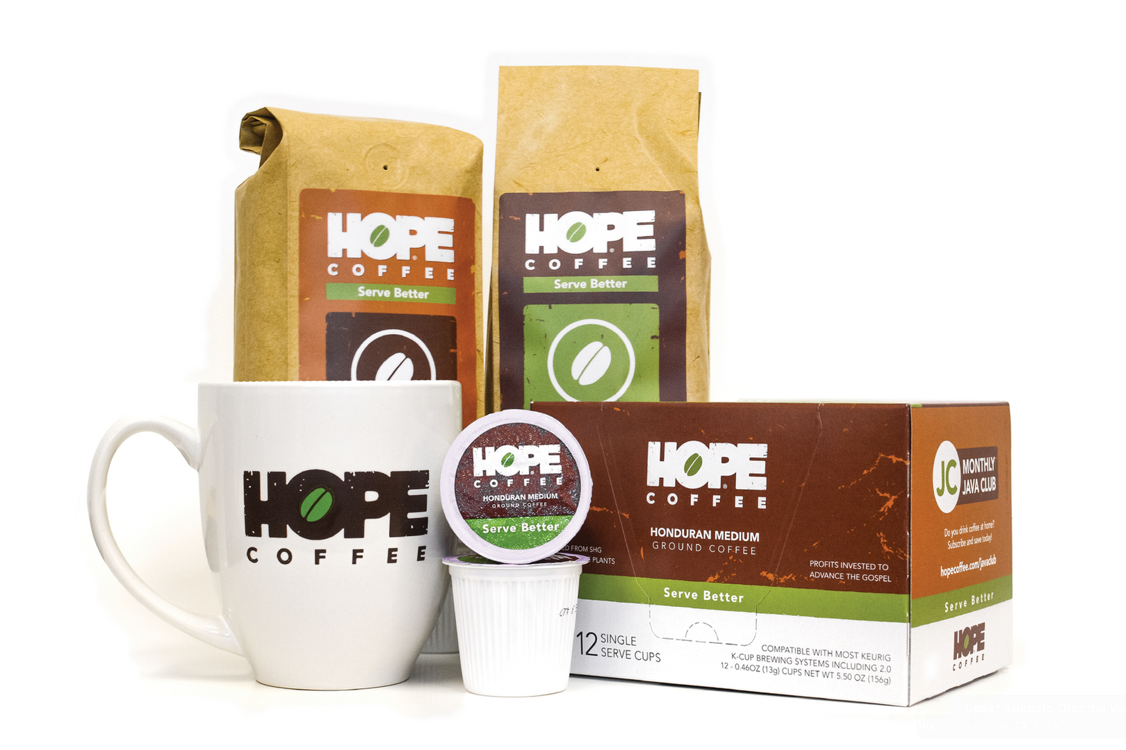 HOPE Coffee Visual Branding