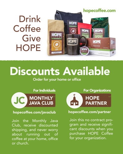 Hope Coffee mini stand