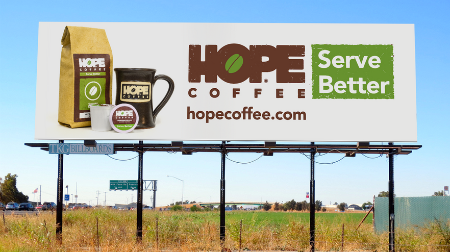 HOPE Coffee Billboards