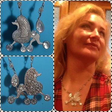 Ювелирный мини-бренд Lala Lotos (Киев) - авторские ювелирные украшения из серебра, золота и натуральных камней; ювелирные изделия на заказ в Украине. Украшения с животными. Собака, пудель из серебра.