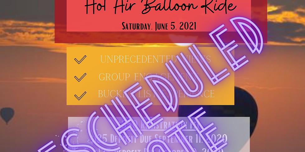 Autumn Sunrise Hot Air Balloon Ride- Rescheduled Date