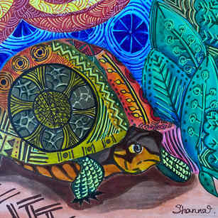 African Textile Study: Turtle 1