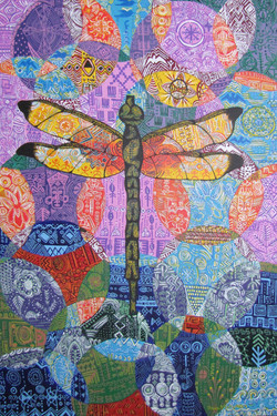 African Textile Study: Dragonfly