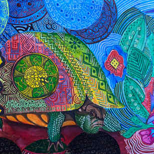 African Textile Study: Turtle 2