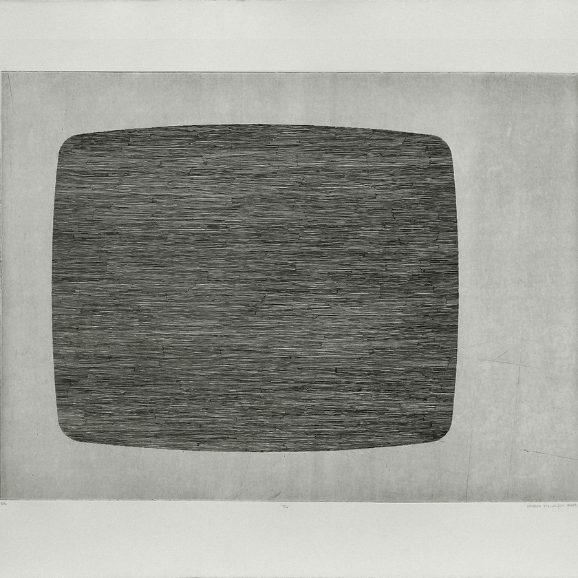 gravura em metal (água-forte). chapa 40x54cm. papel 54x70cm.