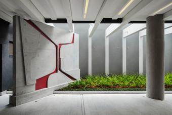 Mural em Concreto, 2015 para FGMF Arquitetos e Constrac.   Concrete Mural, 2015 for FGMF Arquitetos and Constrac.  photo Rafaela Netto