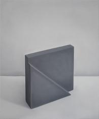 Pintura Realista de Objeto Abstrato, 2016 óleo sobre tela. 60 x 50 cm   Pintura Realista de Objeto Abstrato [Realistic Painting of an Abstract Object], 2016 oil on canvas. 60 x 50 cm  photo Rafaela Netto