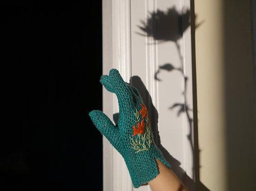 Embroidered Garden Gloves