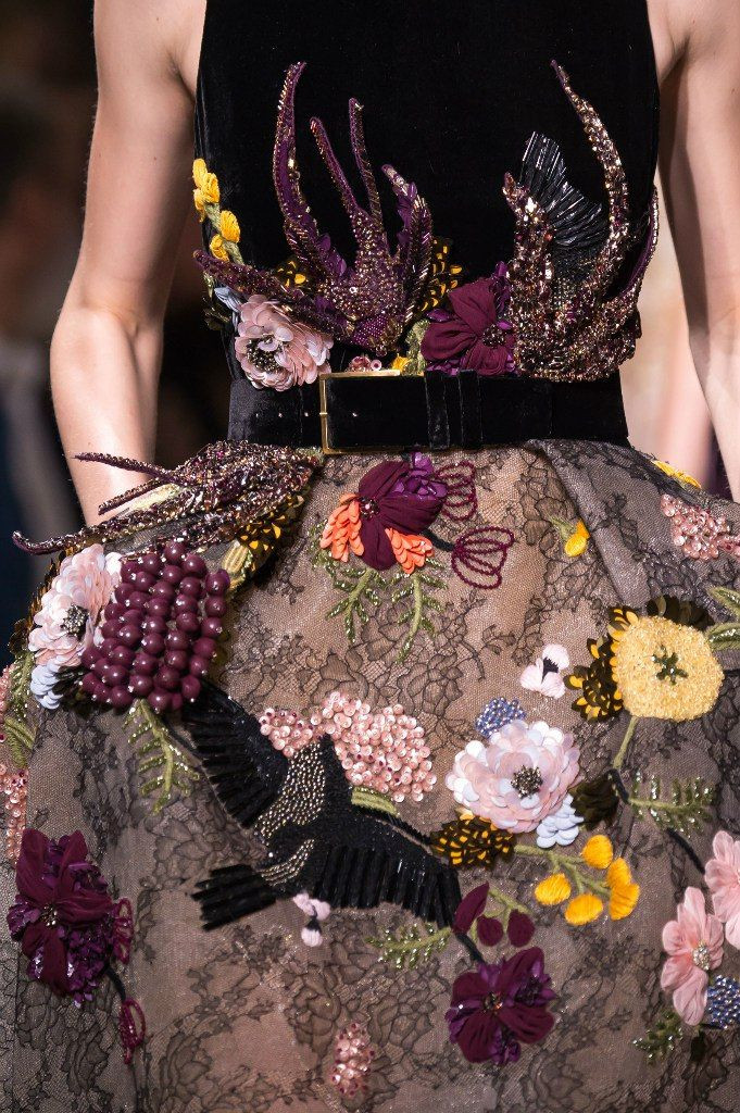 Elie Saab's intricate embroidery.